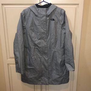 The north face long raincoat
